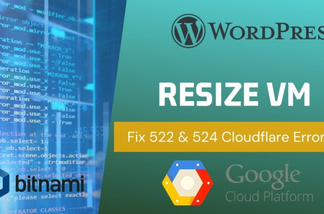 How to Resize VM Instance GCP Compute Engine (VIDEO)