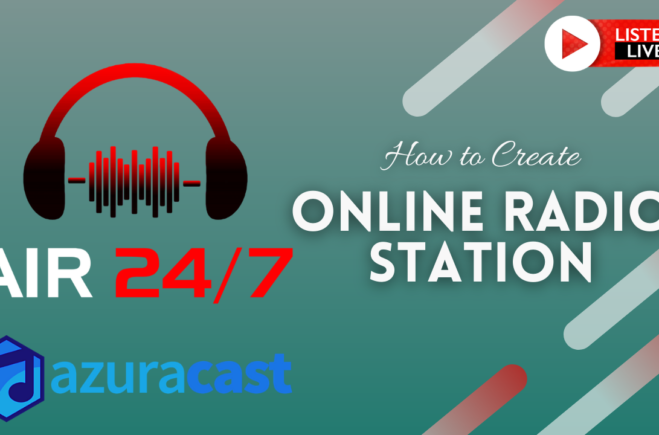 Create 24/7 YouTube Online Radio Broadcast with FFmpeg and Azuracast Web Radio Application (VIDEO)