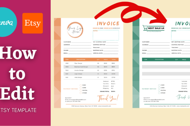 How to Edit Canva Template Bought From Etsy