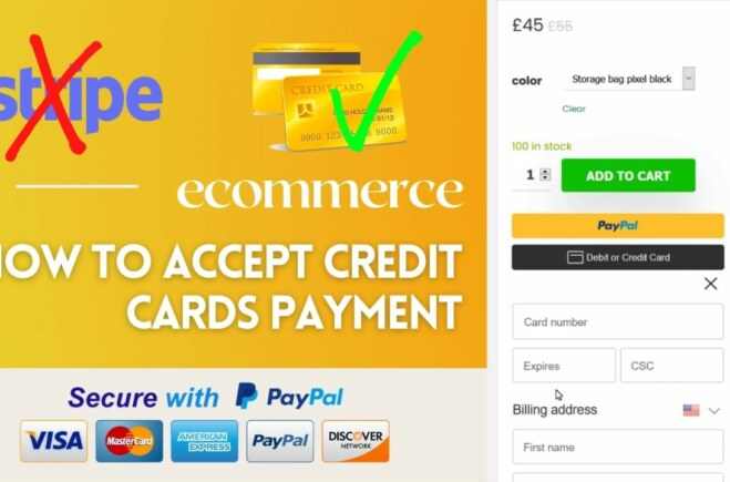 How to Accept Credit Card Payments Online without Stripe | WordPress Ecommerce