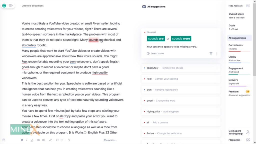 Article to Video Grammerly Spelling Checker tool