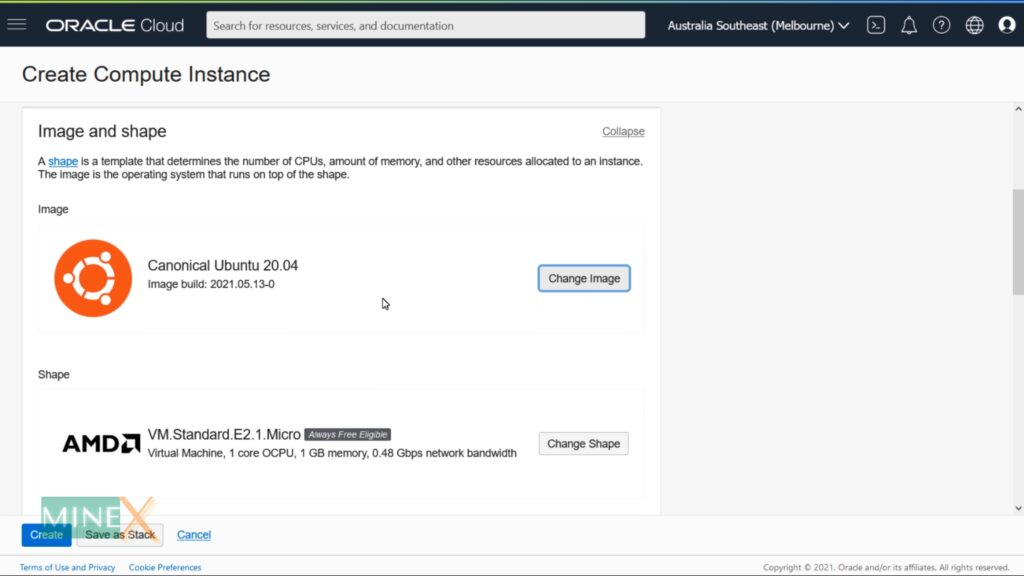 Oracle cloud free vps VM instance