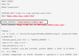 How do I use an image to do the VPS youtube live streaming? What code should I change from the tutorial?