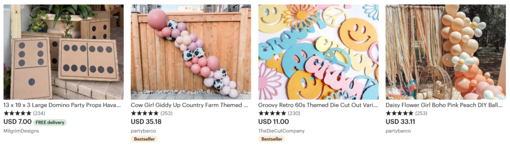 things to sell on Etsy party decor