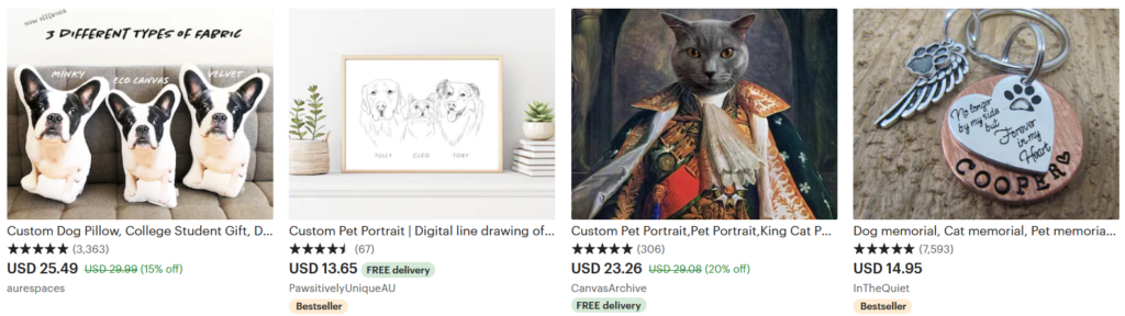 things to sell on Etsy Pet supplies